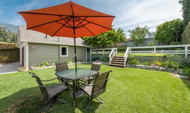 18 - Grassy yard and table