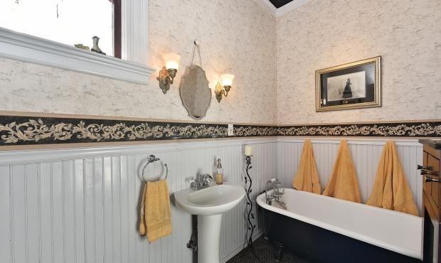 Bath with deep tub